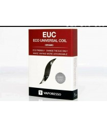 VAPORESSO EUC CERAMIC SS Coils 0.6(Ω) 5 Pack - UK Seller - Eco Universal Coil