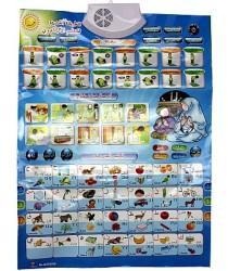 Electronic Wall Chart: Arabic, Duas, Surahs and salaat guide