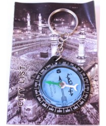 Qibla Compass on Keyring