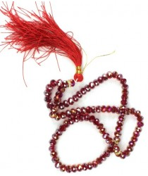 Crystal Tasbeeh (100 prayer beads) - Red