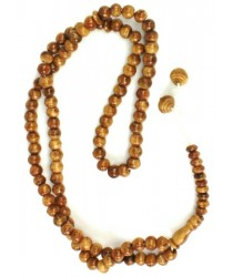 100 prayer beads - Varnished Wood