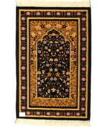 Black Extra Large Prayer Mat Luxury with cutwork