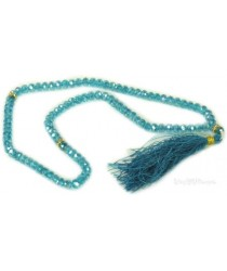 Crystal Tasbeeh (100 prayer beads) - Sky Blue