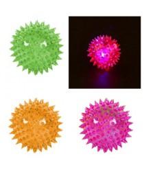 1 Light Up Spikey LED Ball Dog / Cat Flashing Sensory Fun Ball 0059 (Parcel Rate)