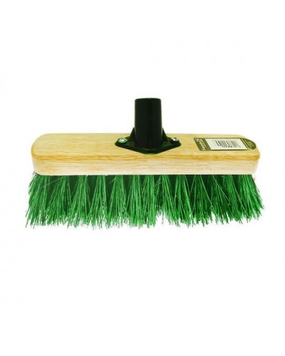 12'' Kingswood Green Or Red PVC Bristle Brush Head 51063 (Parcel Rate)