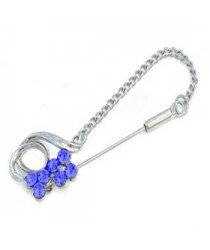 Chain pins Royal Blue RIBBON Hijab Pin