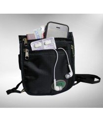 Hajj Safe: Secure Hajj & Umrah Black Large Side & Neck Bag