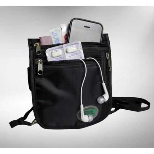 ee455272bbd1 Hajj Safe  Secure Hajj   Umrah Black Large Side   Neck Bag in An-Nur ...