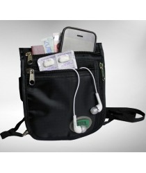 Hajj Safe: Secure Hajj & Umrah Black Neck Bag
